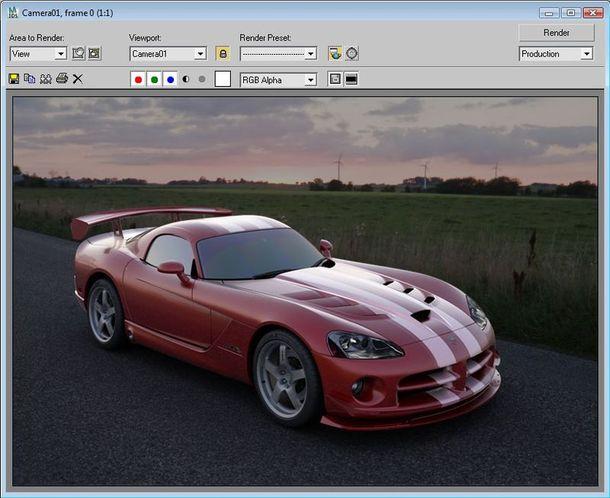 Подготовка фотореалистичной визуализации автомобиля с VRay