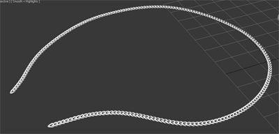 Моделирование цепочки в 3Ds max