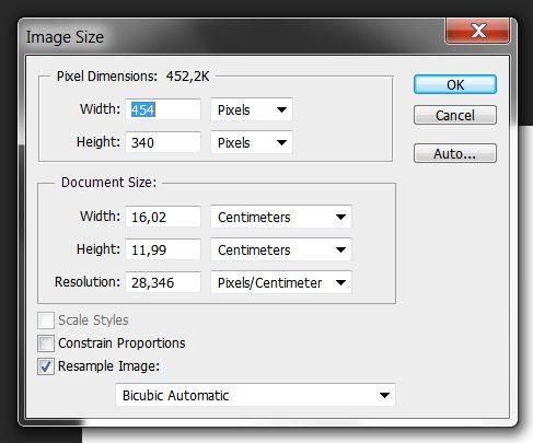Диалоговое окно «Размер изображения (Image Size)»