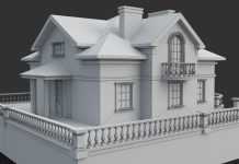 3D моделирование дома в Autocad
