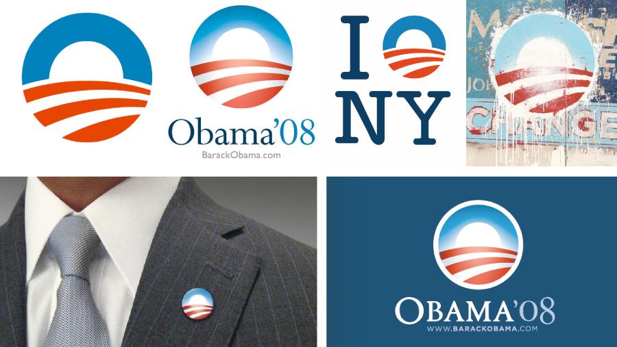 Логотип Барака Обамы в президентской кампании 2008